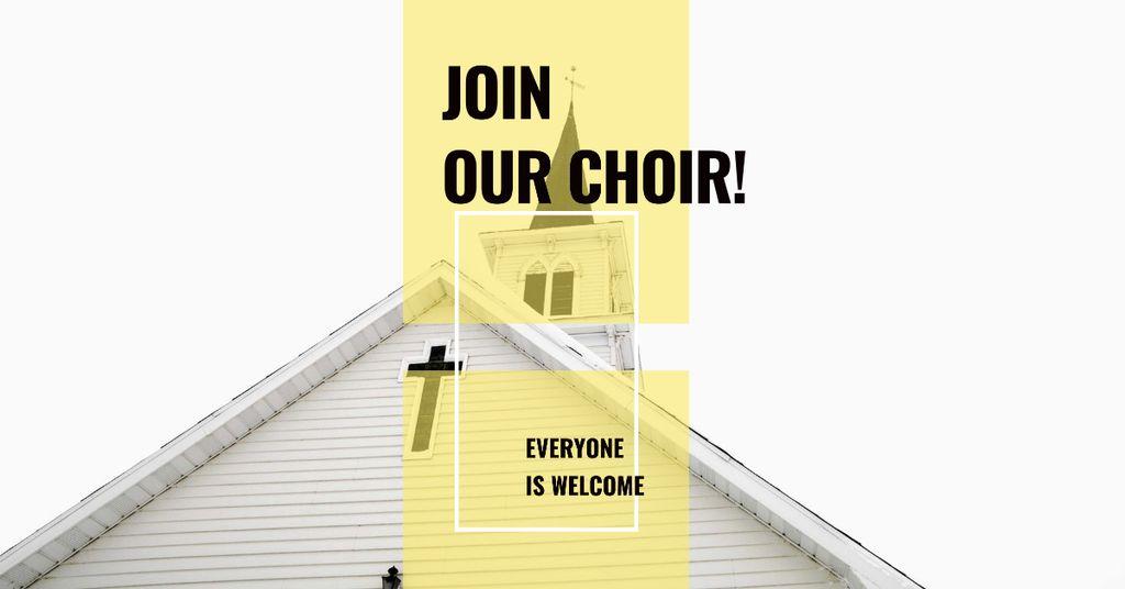 Invitation to a religious Choir Facebook AD – шаблон для дизайна
