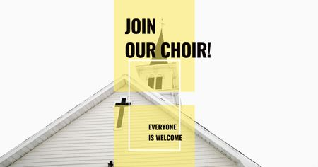 Invitation to a religious Choir Facebook AD Design Template