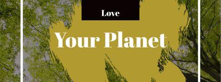 Plantilla de diseño de Eco Concept with Green Trees Facebook cover