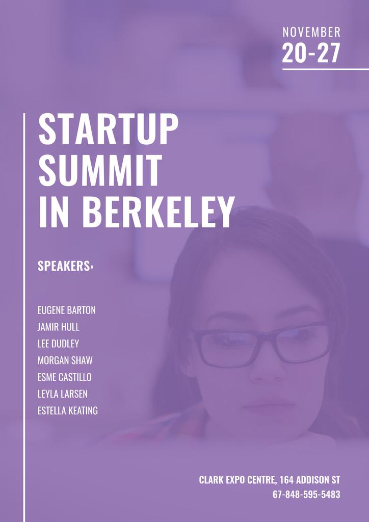 Startup Summit with Businesswoman — Maak een ontwerp