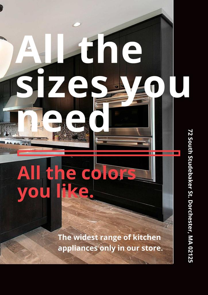 Kitchen appliances store — ein Design erstellen