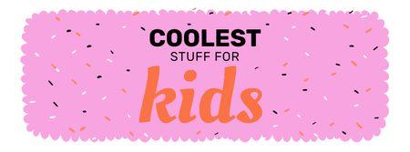 Kids' Stuff ad Facebook cover – шаблон для дизайну