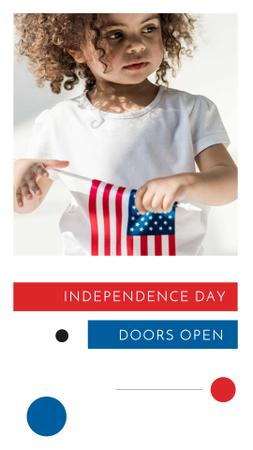 Modèle de visuel Independence Day Event Announcement with Cute Kid - Instagram Story