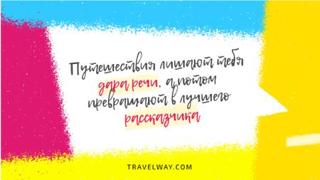 Travelling Quote on Colorful Sprayed Paint Full HD video – шаблон для дизайна