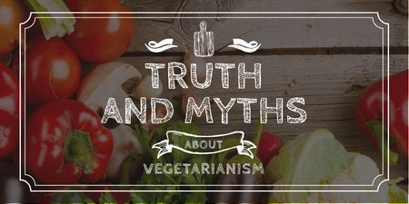 Template di design Truth and myths about Vegetarianism Twitter
