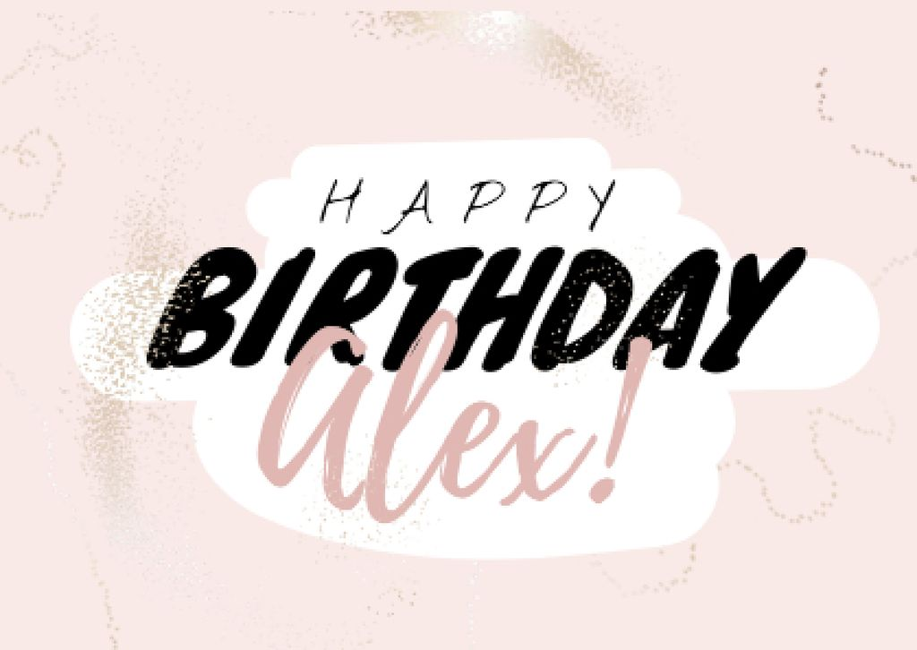 Birthday greeting in pink — Create a Design