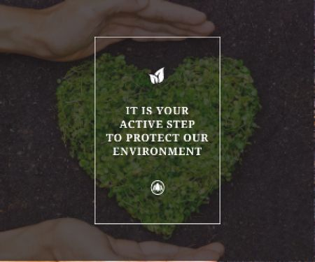 Plantilla de diseño de Citation about protect our environment Medium Rectangle