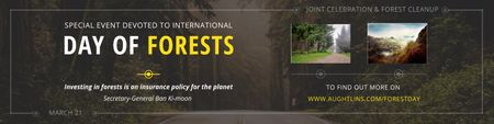 Plantilla de diseño de Special Event devoted to International Day of Forests Twitter