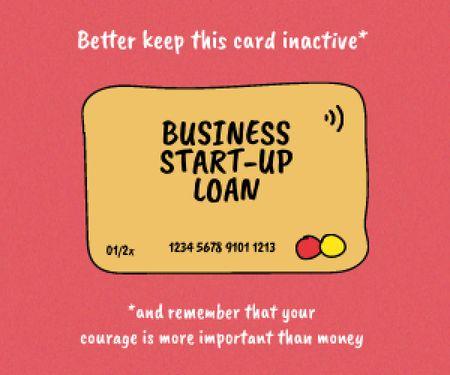 Designvorlage Start-up Loan concept with Credit Card für Medium Rectangle