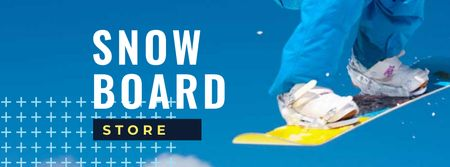 Snow Board Store with Snowboarder Facebook cover Design Template