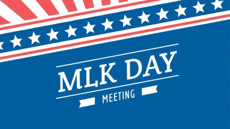 Modèle de visuel Martin Luther King Day Announcement - FB event cover