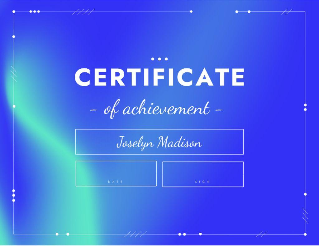 Achievement Award in Business Certificate – шаблон для дизайну