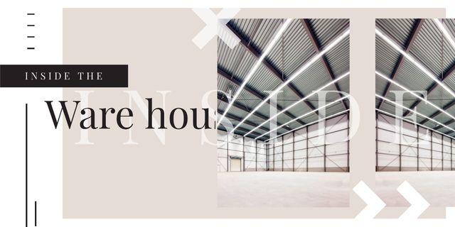 Empty warehouse interior Imageデザインテンプレート