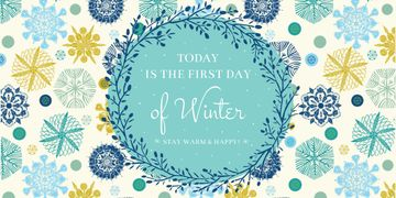 Today is first day of winter lettering