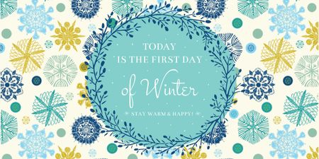 Today is first day of winter lettering Image Modelo de Design