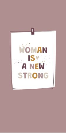 Girl Power Inspirational Citation Graphic Design Template