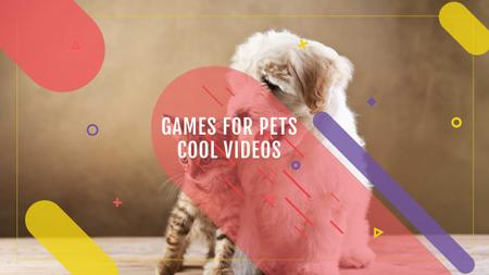 Games for Pets with Cute Dog and Cat Youtube Modelo de Design