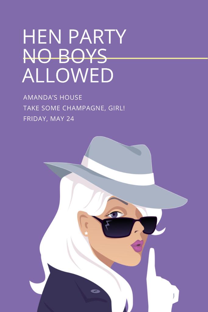Template di design Hen party for girls Invitation Pinterest