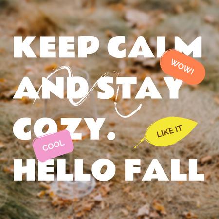 Autumn Inspiration with Foliage on Ground Instagram – шаблон для дизайну