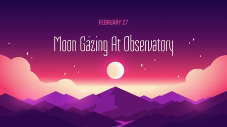 Plantilla de diseño de Moon Gazing at Observatory Offer FB event cover