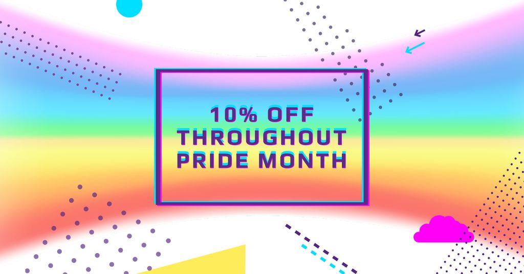 Pride Month Offer with Rainbow Gradient — Modelo de projeto