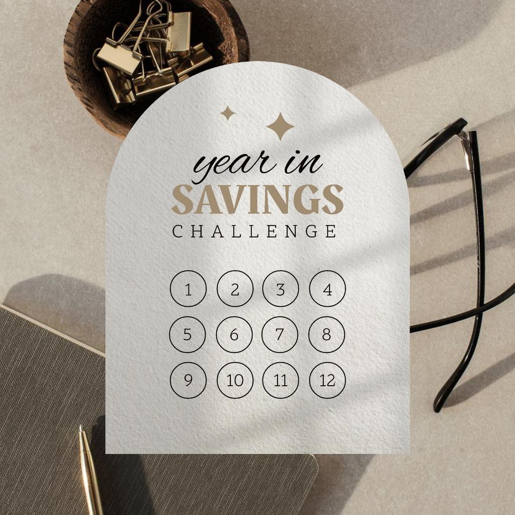 Saving Challenge Tracker Instagram Design Template