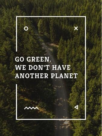 Modèle de visuel Ecology Quote with Forest Road View - Poster US