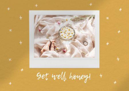 Get Well Wish with Chamomile Tea Card Modelo de Design