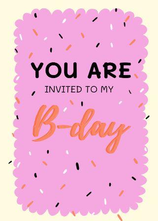 Plantilla de diseño de Birthday Party Celebration Announcement Invitation