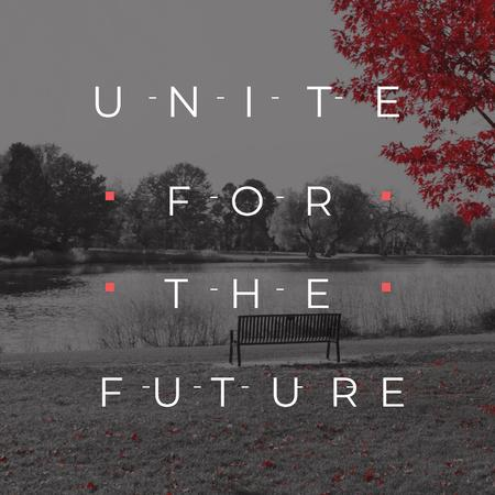 Ontwerpsjabloon van Instagram van Concept of Unite for the future