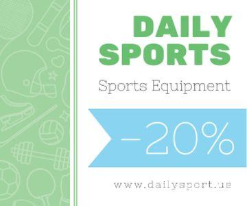 Sports equipment sale advertisement