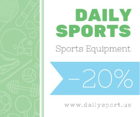 Sports equipment sale advertisement Medium Rectangle Design Template
