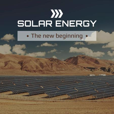 Energy Supply Solar Panels in Rows Instagram AD – шаблон для дизайна