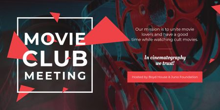 Plantilla de diseño de Movie Club Meeting Vintage Projector Image
