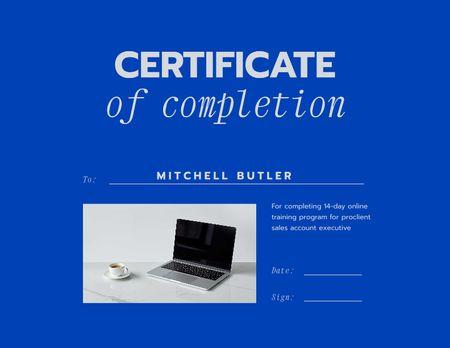 Ontwerpsjabloon van Certificate van Online training course Completion Award