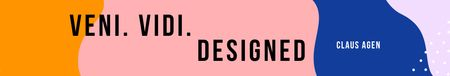 Modèle de visuel Design Agency slogan on retro pattern - LinkedIn Cover