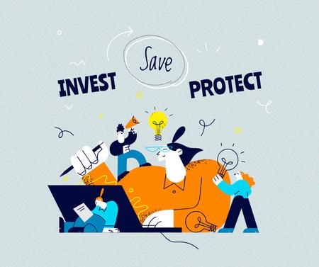 People at Online Finance Workshop Facebook Tasarım Şablonu