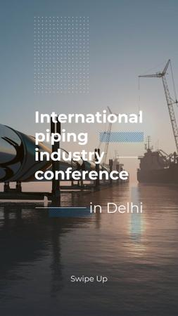 Piping Industry Conference Announcement Instagram Story – шаблон для дизайну
