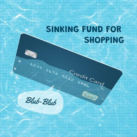 Template di design Funny Joke with Credit Card floating in Pool Instagram