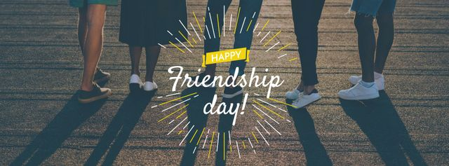 Friendship Day Announcement with Friends Facebook cover Design Template