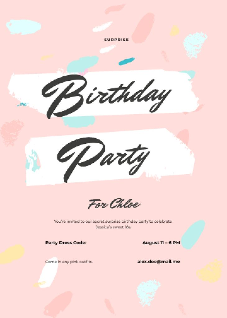 Birthday Surprise Party — Create a Design