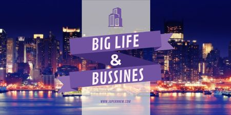 Modèle de visuel Life and business banner - Image