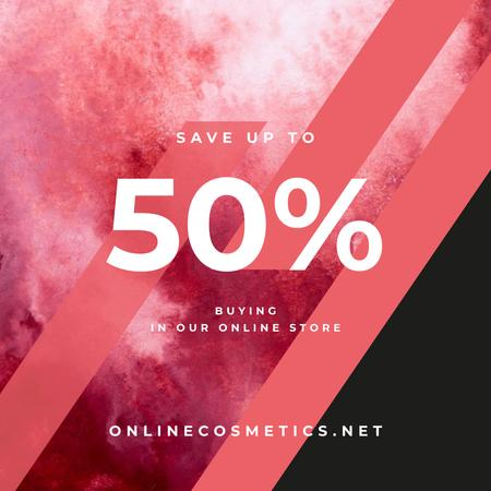 Sale Announcement Colorful Paint Blots in Red Instagram AD – шаблон для дизайну