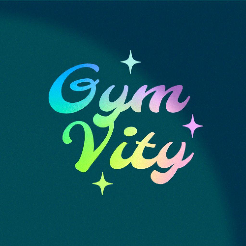Gym Opening Bright Announcement Logo – шаблон для дизайна