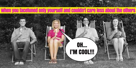 Funny Joke with Friends on Sun Loungers Twitter Design Template