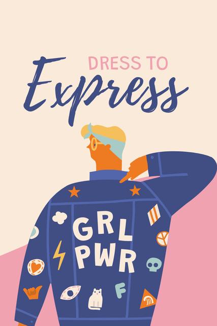 Girl Power bright Inspiration Pinterest – шаблон для дизайна