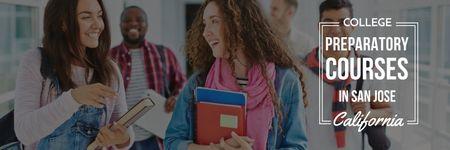 Modèle de visuel College preparatory courses poster - Twitter