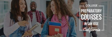 College preparatory courses poster Twitter – шаблон для дизайну
