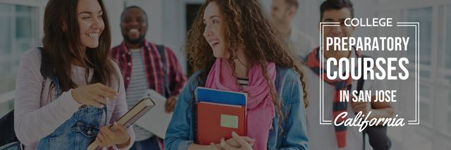Plantilla de diseño de College preparatory courses poster Twitter