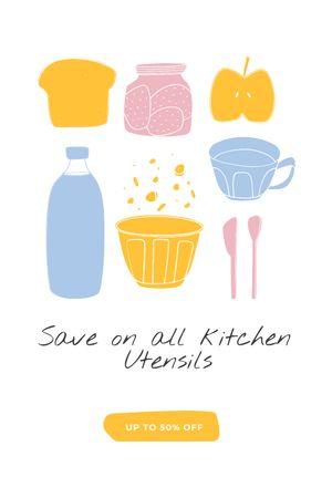 Plantilla de diseño de Kitchen Utensils sale Tumblr